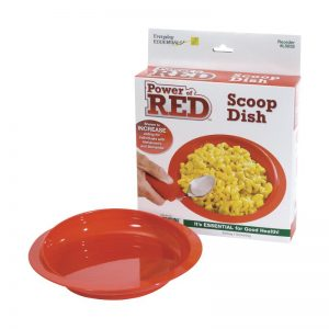 red scoop dish