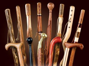 wooden walking canes